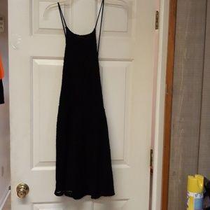 Xhilaration Black Eyelet dress overlay XXL